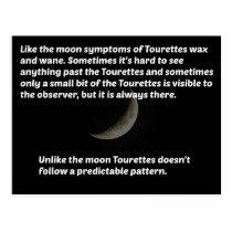 Tourettes moon postcard