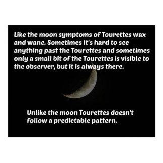 Tourettes moon postcard