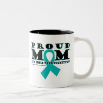 Tourette's Proud Mom Two-Tone Coffee Mug