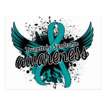 Tourette's Syndrome Awareness 16 (Teal) Postcard