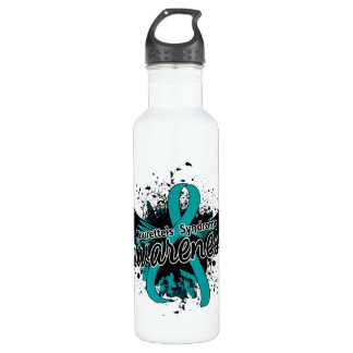Tourette's Syndrome Awareness 16 (Teal) Stainless Steel Water Bottle