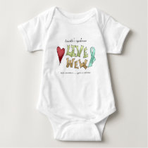Tourette's Syndrome Awareness Baby Bodysuit