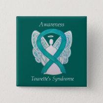 Tourette's Syndrome Awareness Ribbon Angel Pin