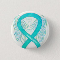 Tourette's Syndrome Awareness Ribbon Angel Pin