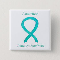 Tourette's Syndrome Awareness Ribbon Custom Pin