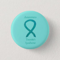Tourette's Syndrome Awareness Ribbon Custom Pin