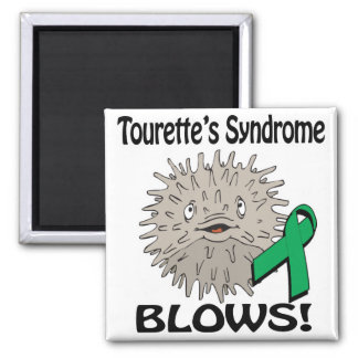 Tourettes Syndrome Blows Awareness Design 2 Inch Square Magnet