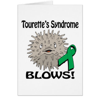 Tourettes Syndrome Blows Awareness Design Card
