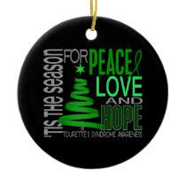 Tourette's Syndrome Christmas 1 Ornaments