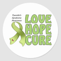 Tourettes Syndrome Classic Round Sticker