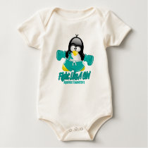 Tourette's Syndrome Fighting Penguin Baby Bodysuit