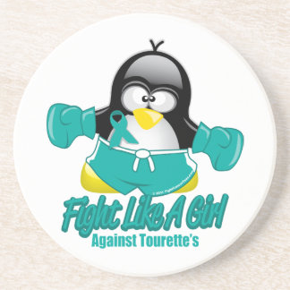 Tourette's Syndrome Fighting Penguin Drink Coasters