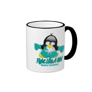 Tourette's Syndrome Fighting Penguin Coffee Mugs