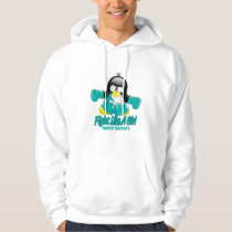 Tourette's Syndrome Fighting Penguin Hoodie