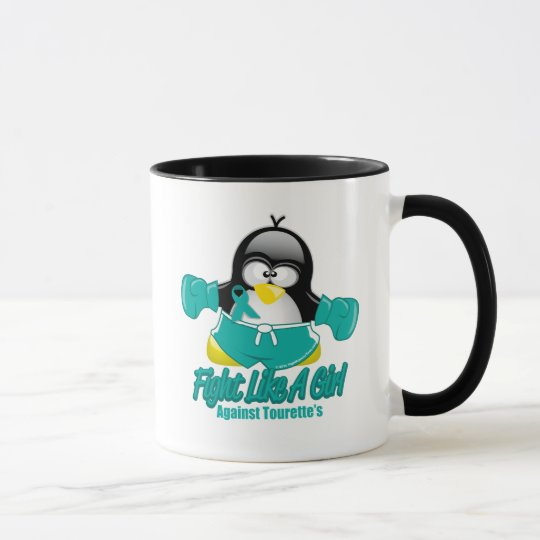 Tourette's Syndrome Fighting Penguin Mug