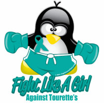 Tourette's Syndrome Fighting Penguin Statuette