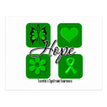 Tourettes Syndrome Hope Love Inspire Awareness Post Card
