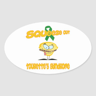 Tourette's Syndrome Oval Sticker