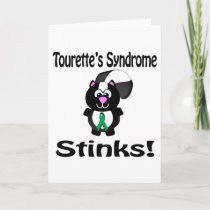 Tourettes Syndrome Stinks Skunk Awareness Design Card