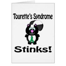 Tourettes Syndrome Stinks Skunk Awareness Design Card