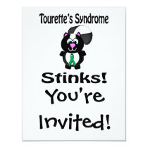 Tourettes Syndrome Stinks Skunk Awareness Design Invitation