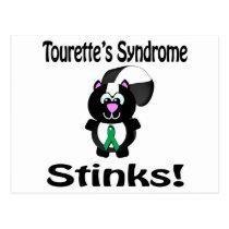 Tourettes Syndrome Stinks Skunk Awareness Design Postcard