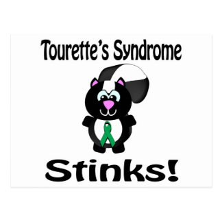 Tourettes Syndrome Stinks Skunk Awareness Design Postcard