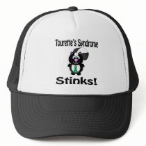 Tourettes Syndrome Stinks Skunk Awareness Design Trucker Hat