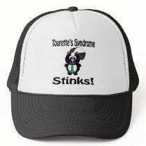Tourettes Syndrome Stinks Skunk Awareness Design Trucker Hat