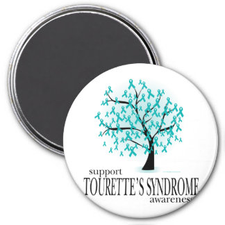 Tourette's Syndrome Tree 3 Inch Round Magnet