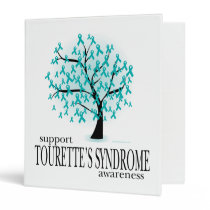 Tourette's Syndrome Tree 3 Ring Binder