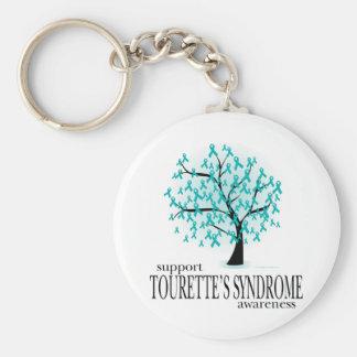 Tourette's Syndrome Tree Basic Round Button Keychain