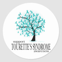 Tourette's Syndrome Tree Classic Round Sticker