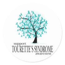 Tourette's Syndrome Tree Classic Round Sticker