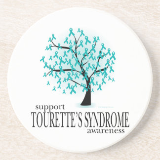 Tourette's Syndrome Tree Drink Coasters