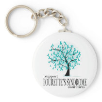 Tourette's Syndrome Tree Keychain
