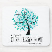 Tourette's Syndrome Tree Mouse Pad