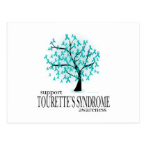 Tourette's Syndrome Tree Postcard