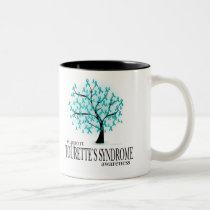 Tourette's Syndrome Tree Two-Tone Coffee Mug