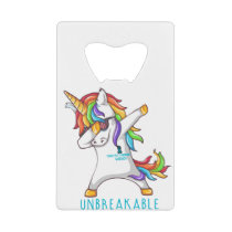 Tourette's Syndrome Warrior Unbreakable Credit Card Bottle Opener