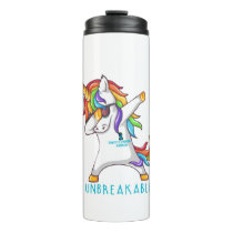 Tourette's Syndrome Warrior Unbreakable Thermal Tumbler
