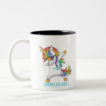 Tourette's Syndrome Warrior Unbreakable Two-Tone Coffee Mug