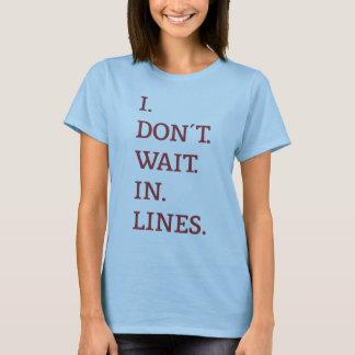 TouringPlans.com I Don't Wait in Lines T-Shirt
