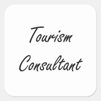Tourism Consultant Artistic Job Design Square Sticker
