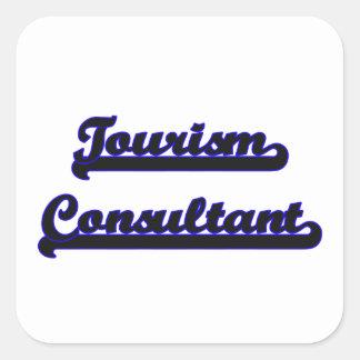 Tourism Consultant Classic Job Design Square Sticker