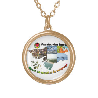 tourism yaws-Bissau beautiful waters Gold Plated Necklace