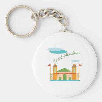 Tourist Attractions Basic Round Button Keychain
