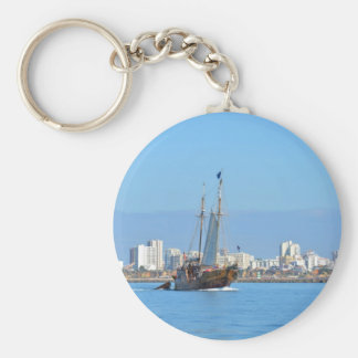 Tourist Boat On The Algarve Keychain