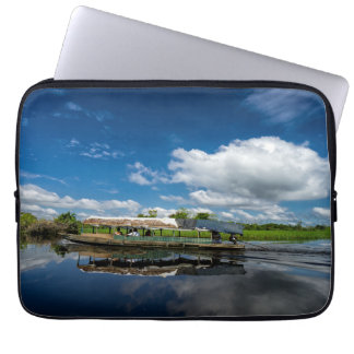 Tourist Boat Reflection Laptop Sleeve