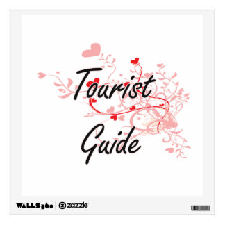 Tourist Guide Artistic Job Design with Hearts Room Decals